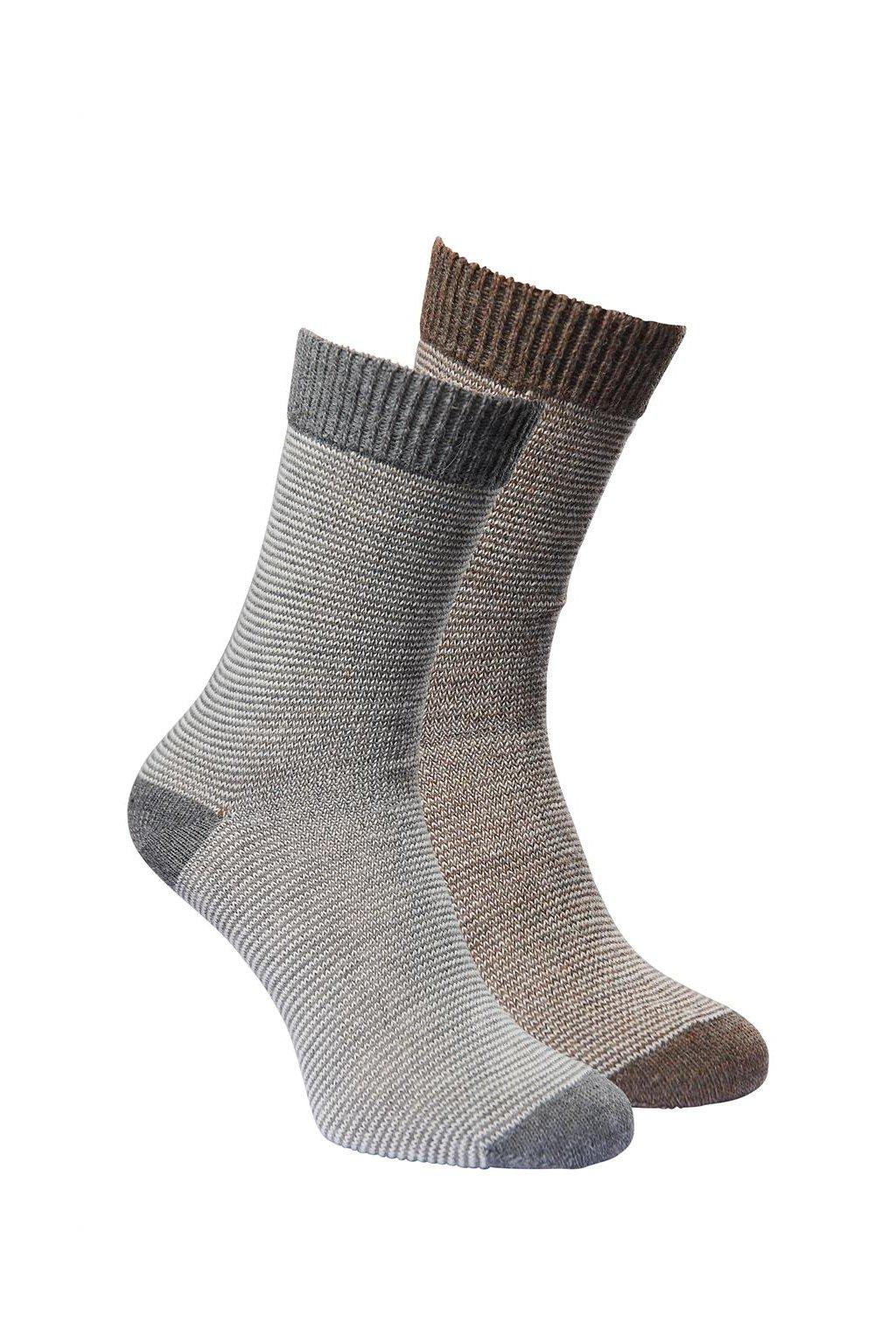Ponožky z alpaky LINEA- duopack