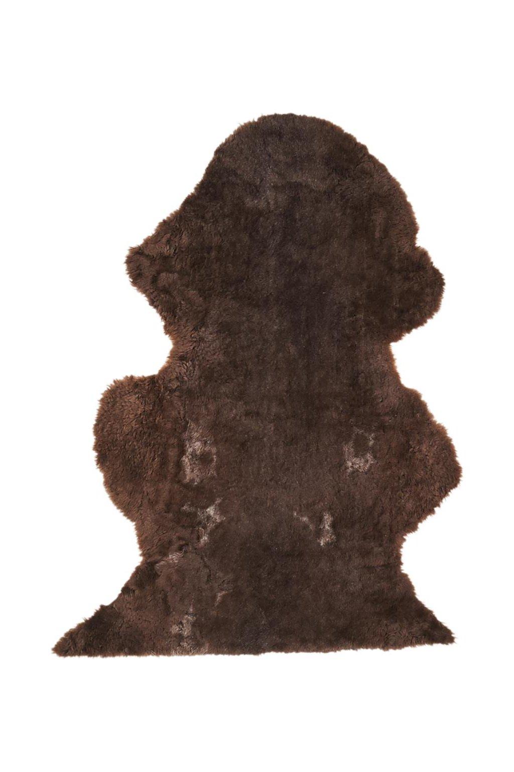 Jehněčí kožešina melír - dlouhá vlna