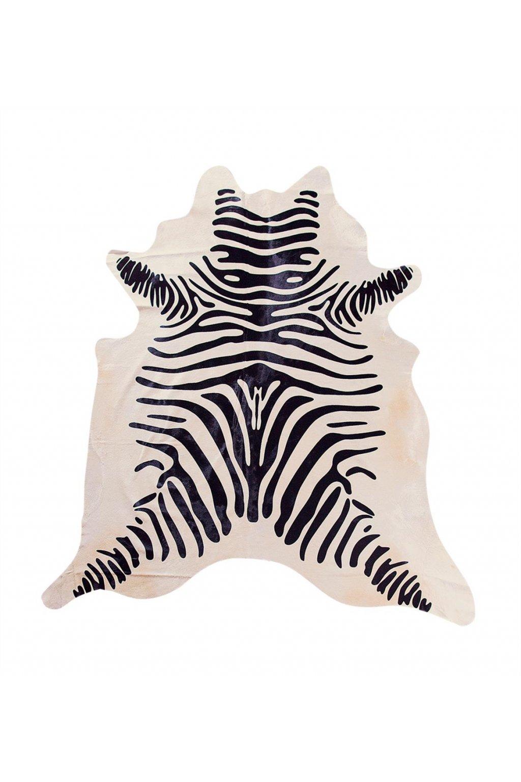 Stierfell Zebra beige