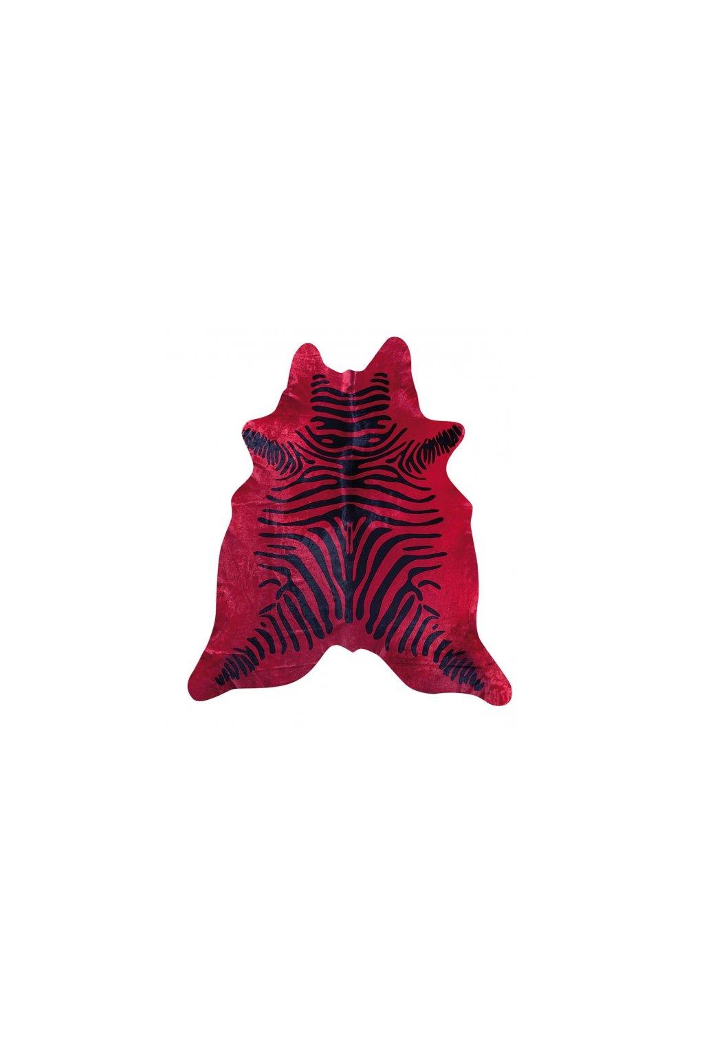 Stierfell Zebra rot 600x600