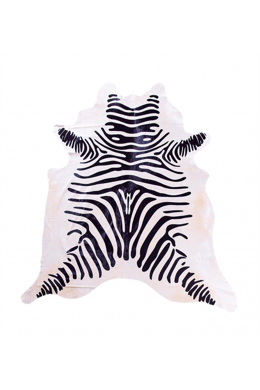 Stierfell Zebra weiss