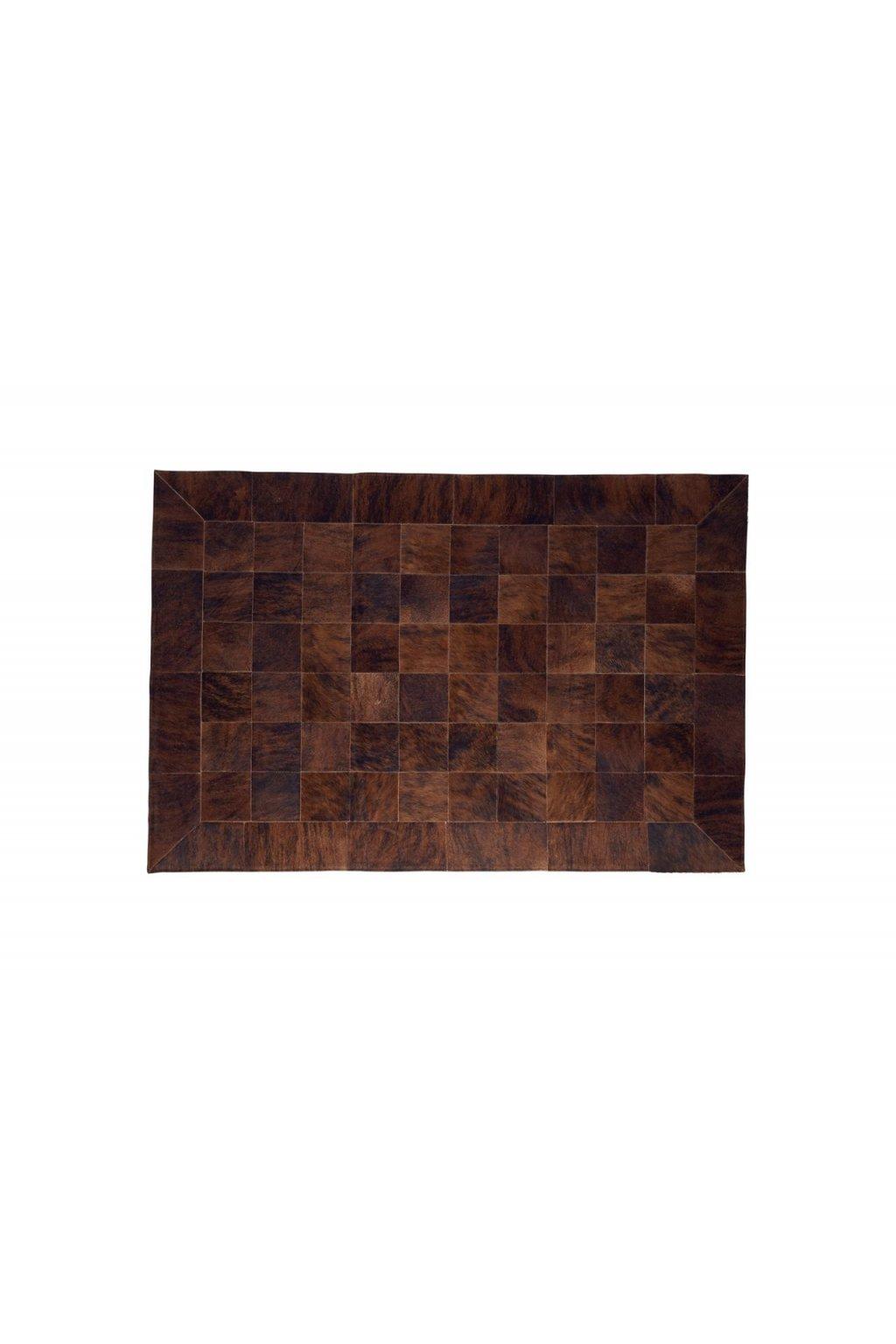 Stierfell Teppich Exote braun