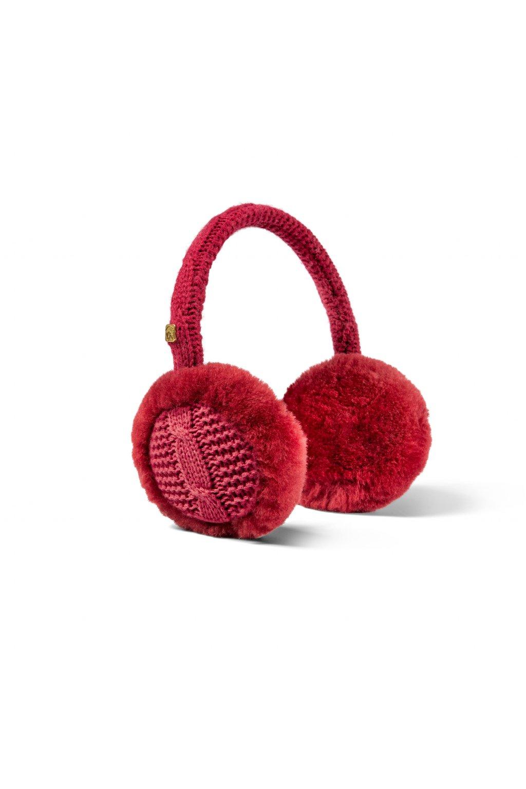 Ohrenwärmer Strickliesel für Damen rot 0