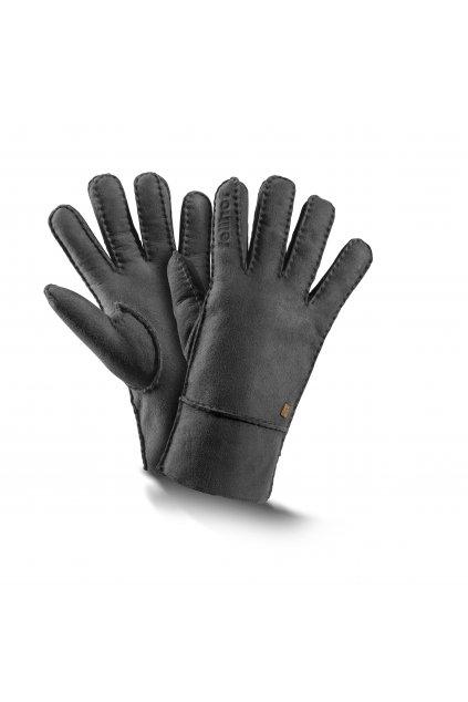 Lammfell Fingerhandschuhe Trend anthrazit 0