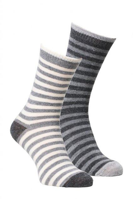 Alpaka Socken gestreift, 2er Pack 0