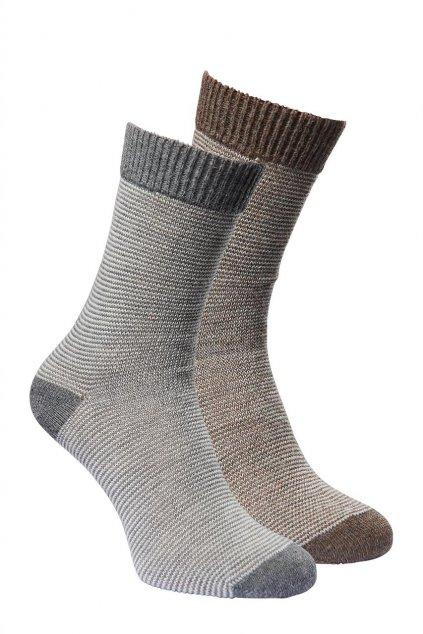 Ponožky z alpaky LINEA duopack