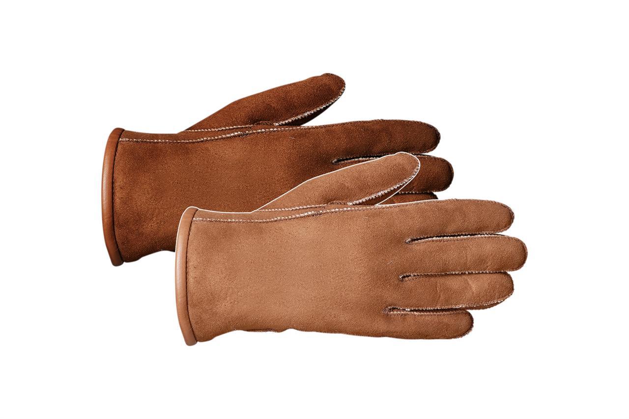 Rukavice prstové CLASSIC Barva: Hnědá, Velikost: 7