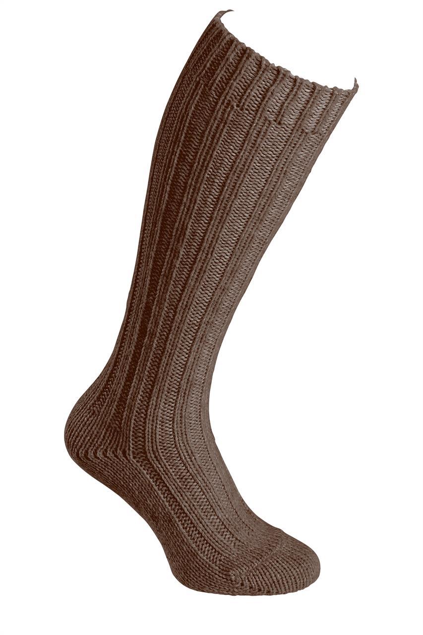 Podkolenky z alpaky silné Barva: Tmavě hnědá, Velikost: 39–42