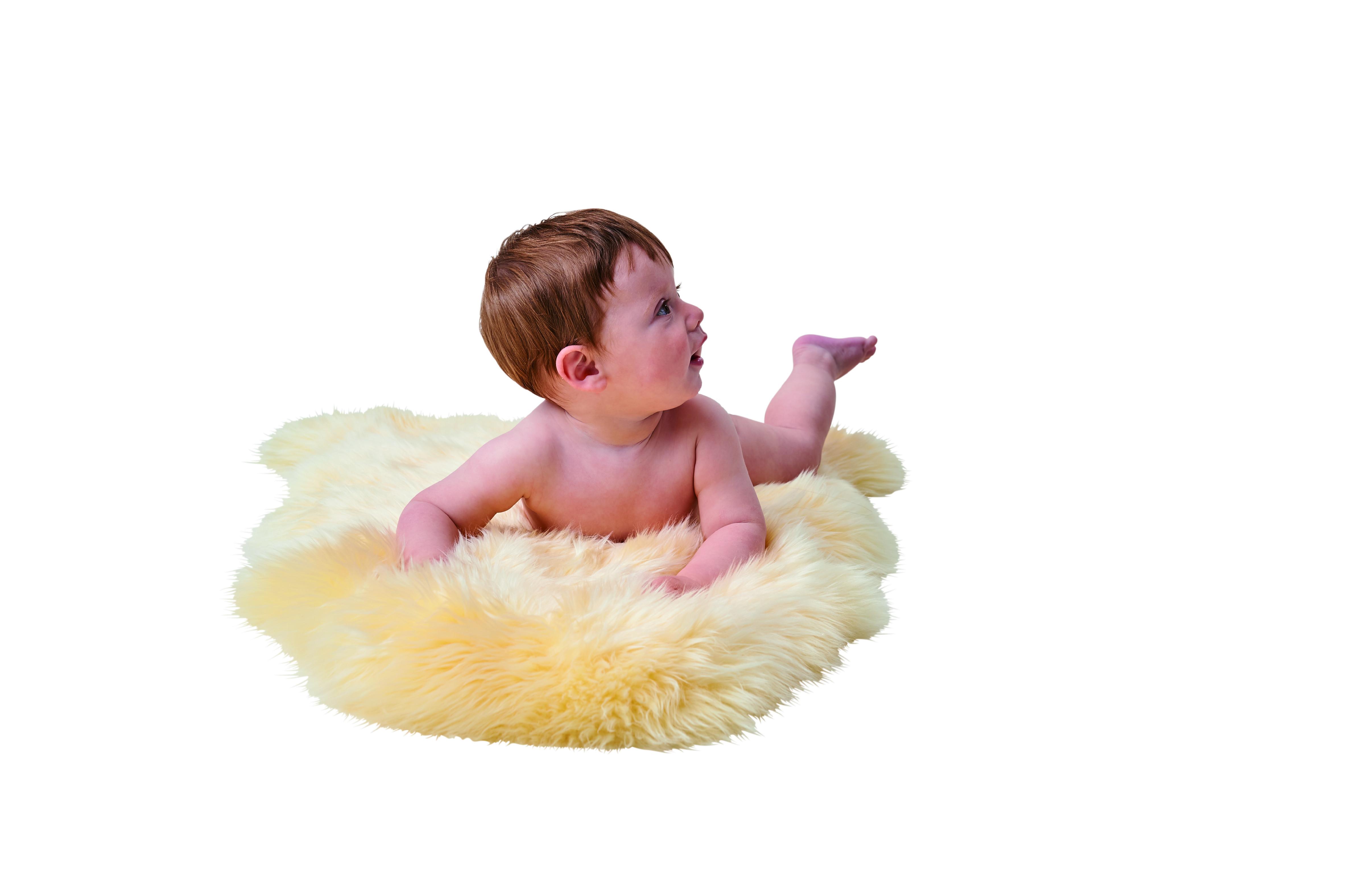 Jehněčí kožešina pro děti Baby Cozy nestřižená