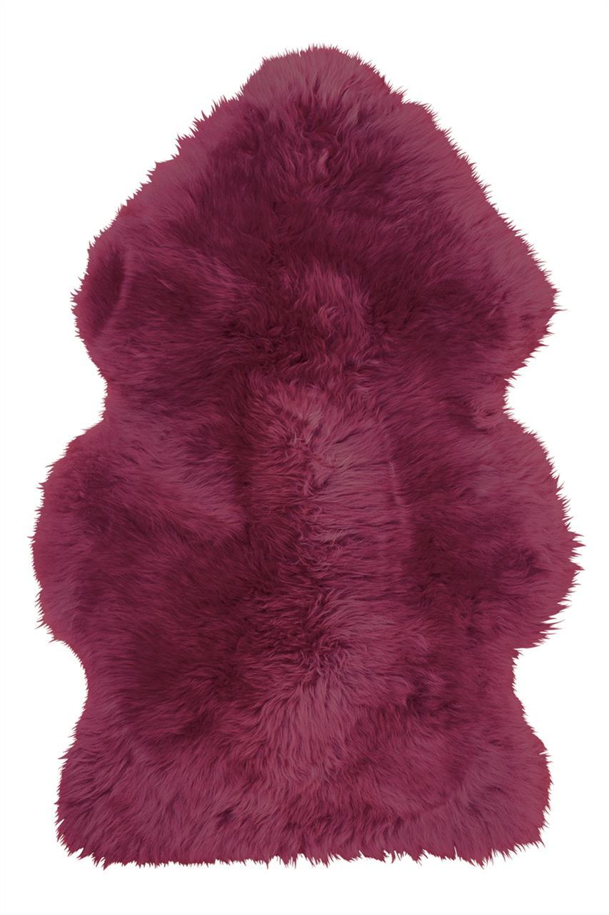 Jehněčí kožešina DEKO, barv., nestřižená Barva: Burgundy, Velikost: 90–100 cm