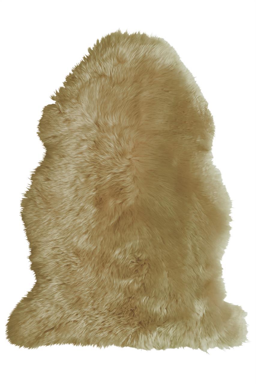 Jehněčí kožešina DEKO, barv., nestřižená Barva: Zlatá, Velikost: 90–100 cm