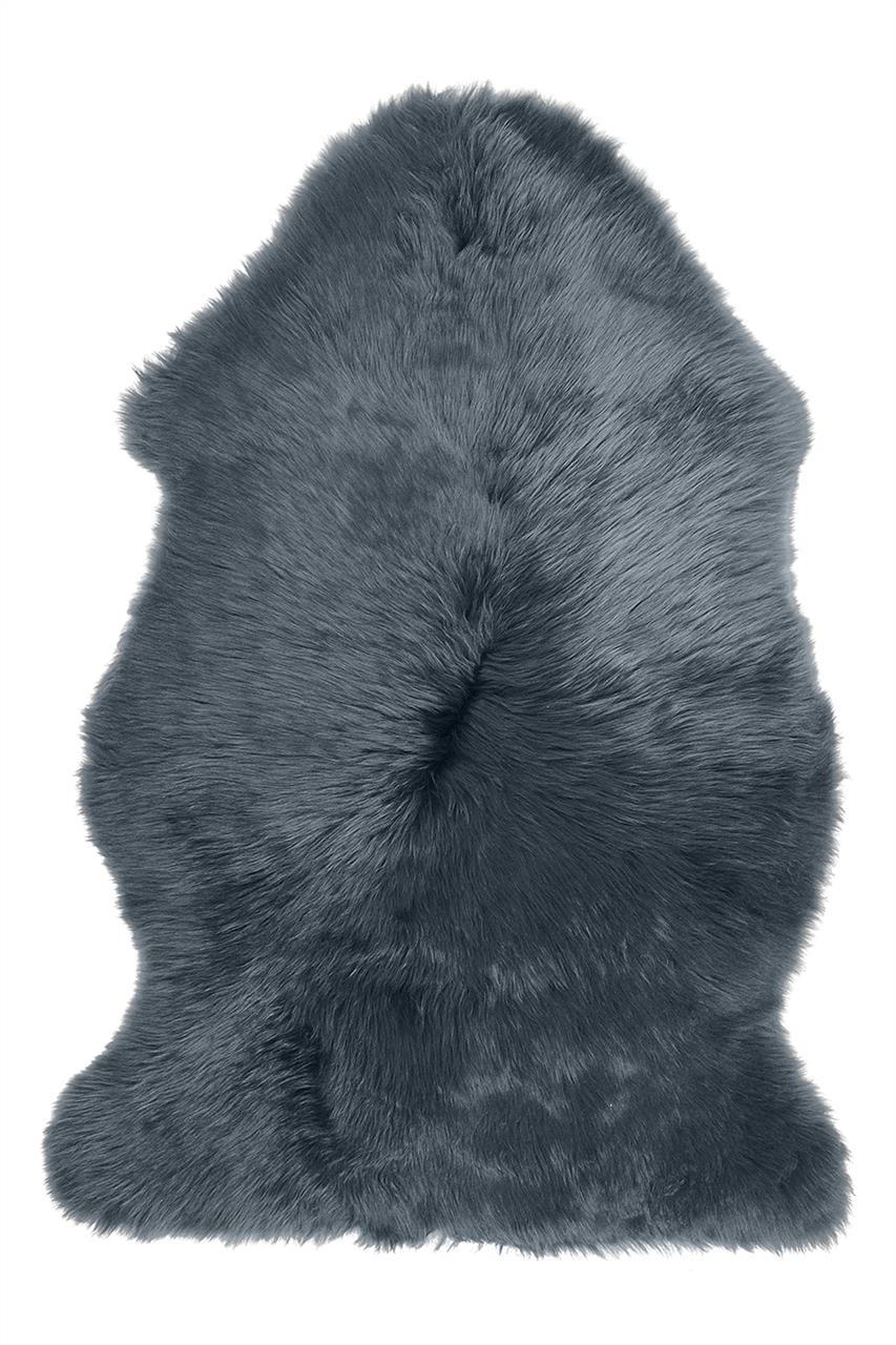 Jehněčí kožešina DEKO, barv., nestřižená Barva: Ocelová, Velikost: 90–100 cm