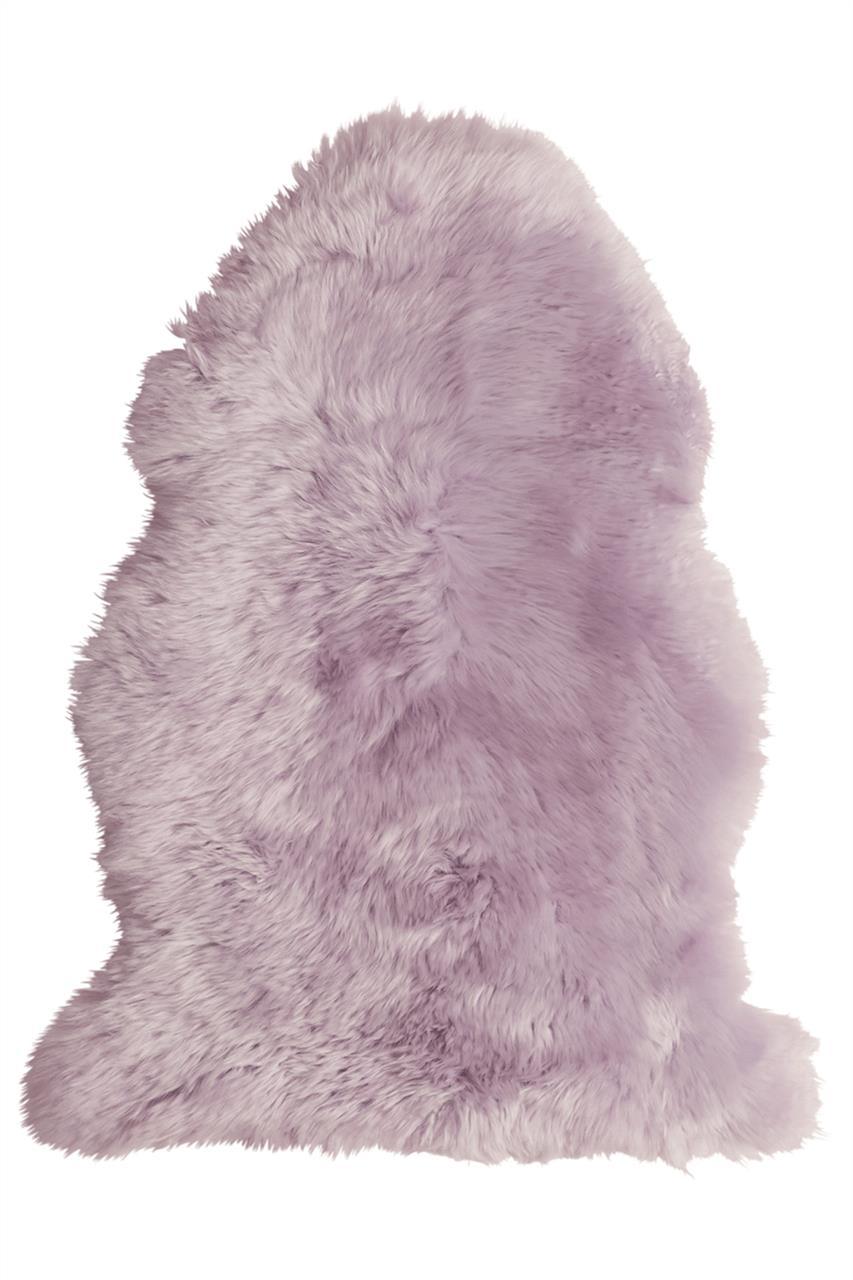 Jehněčí kožešina DEKO, barv., nestřižená Barva: Liliová, Velikost: 90–100 cm