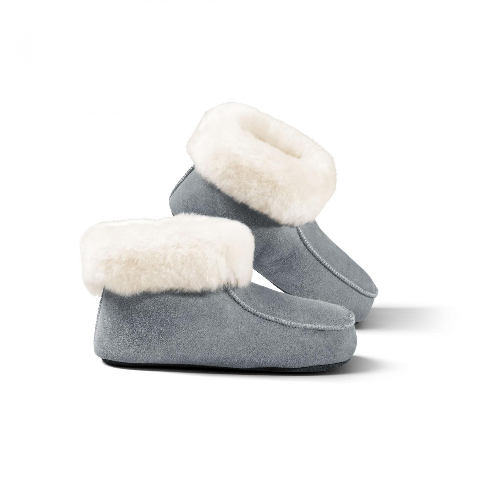 Dětská domácí obuv s koženou podrážkou Zvolte variantu: Modrá, Velikost: 35