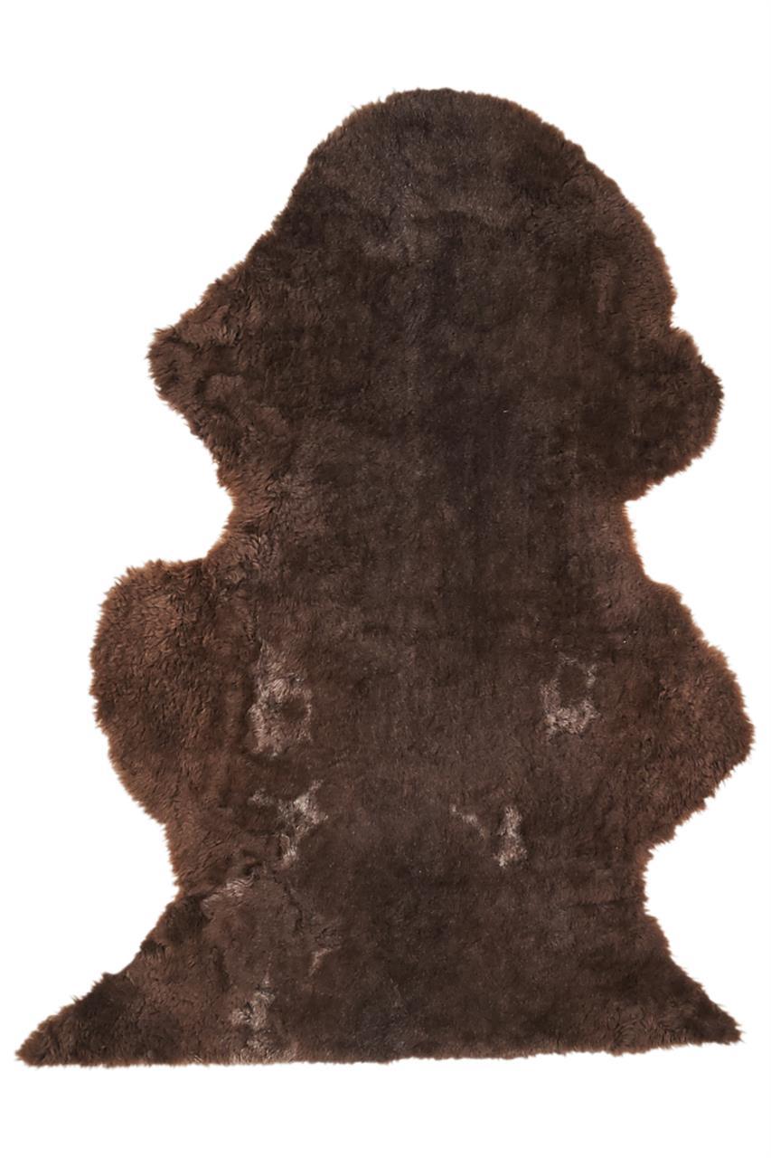 Jehněčí kožešina dlouhá vlna Barva: Tmavý melír