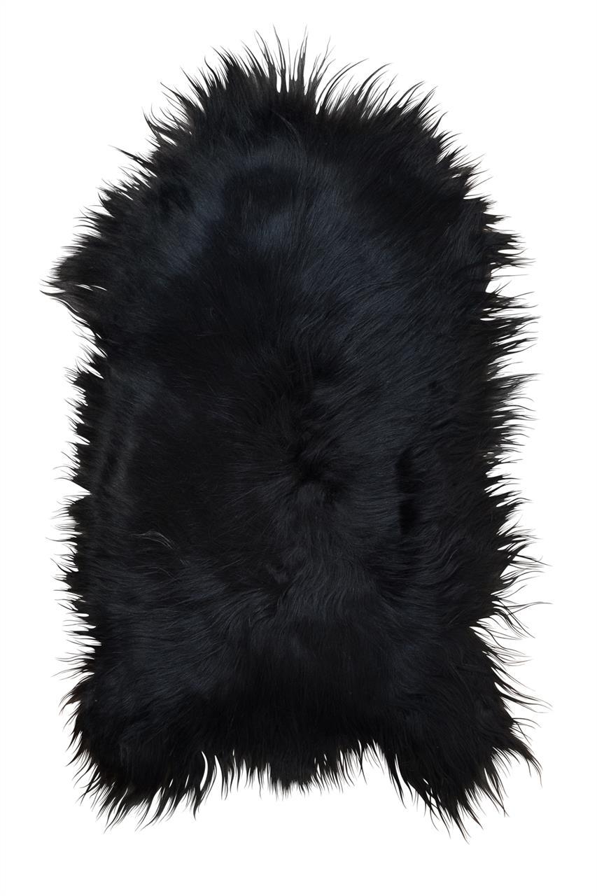 Jehněčí kožešina ISLAND Barva: Černo-hnědá, Velikost: 100–110 cm