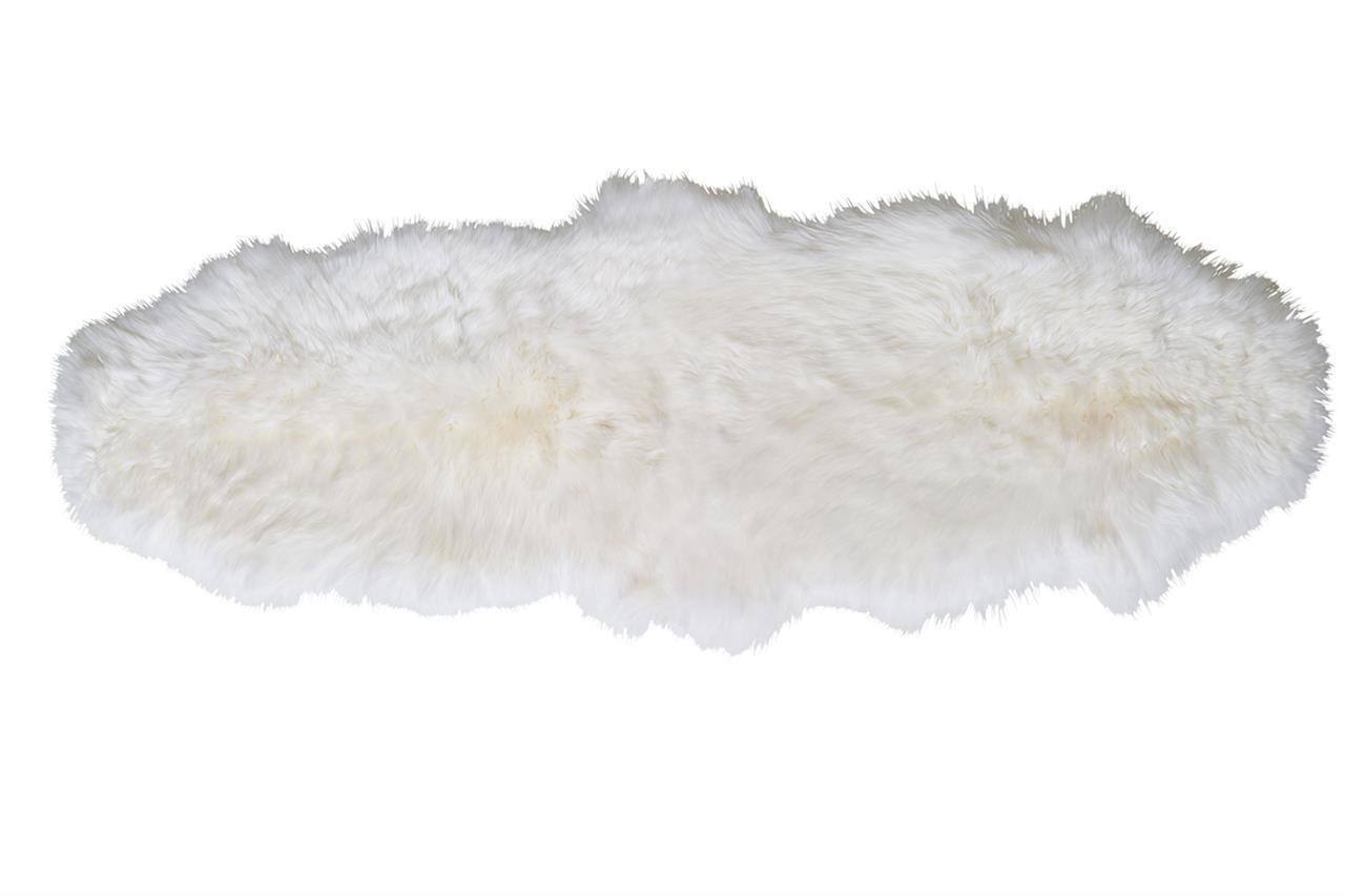Jehněčí kožešina dvojitá Barva: Přírodně bílá, Velikost: 180–190 cm