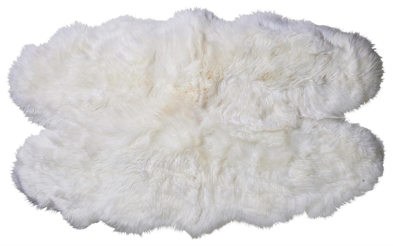 Jehněčí kožešina QUATTRO Barva: Přírodně bílá, Velikost: 160 × 90 cm
