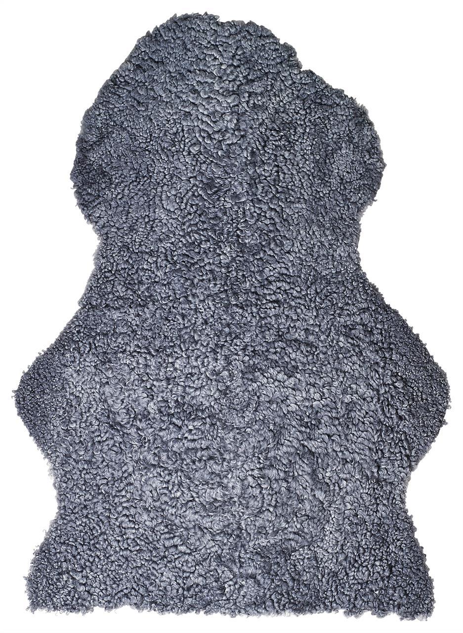 Jehněčí kožešina CURLY Barva: Ocelová, Velikost: 90–100 cm