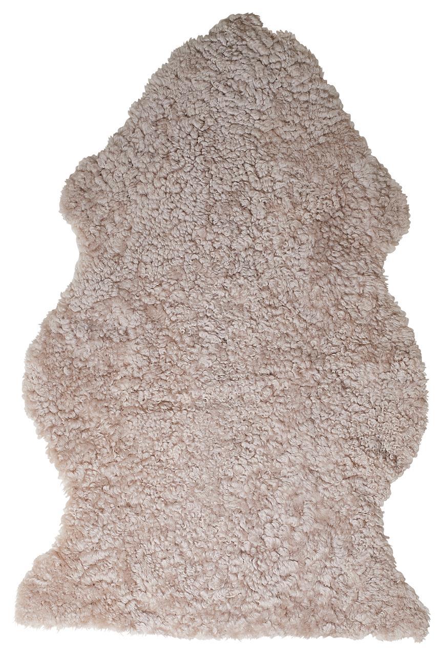 Jehněčí kožešina CURLY Barva: Champagne, Velikost: 90–100 cm
