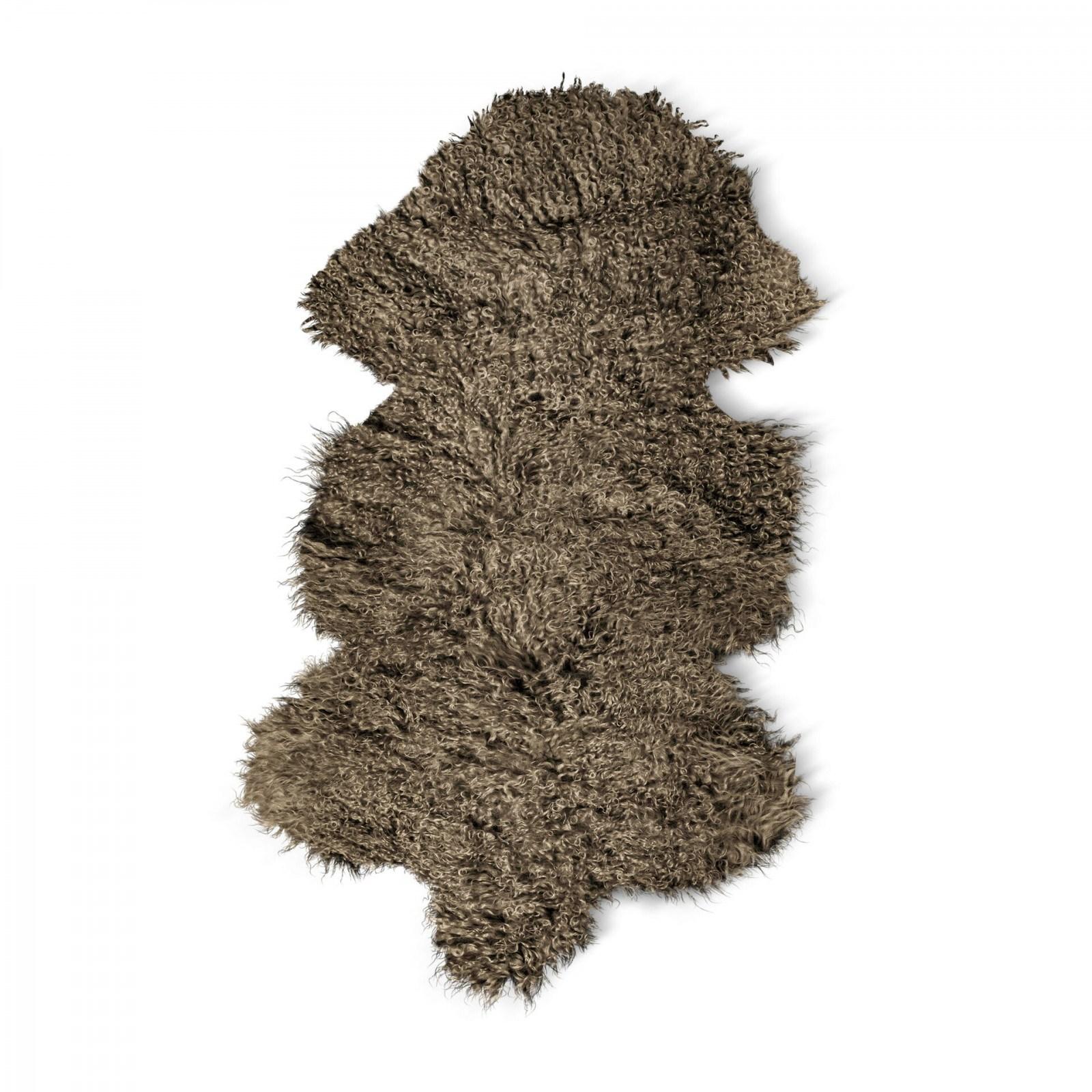Jehněčí kožešina TIBET Barva: Stříbrně šedá, Velikost: 80–90 cm
