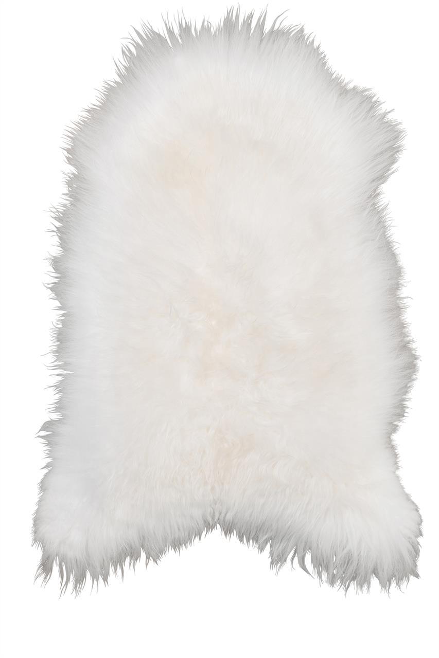 Jehněčí kožešina TIBET Barva: Bílá, Velikost: 80–90 cm