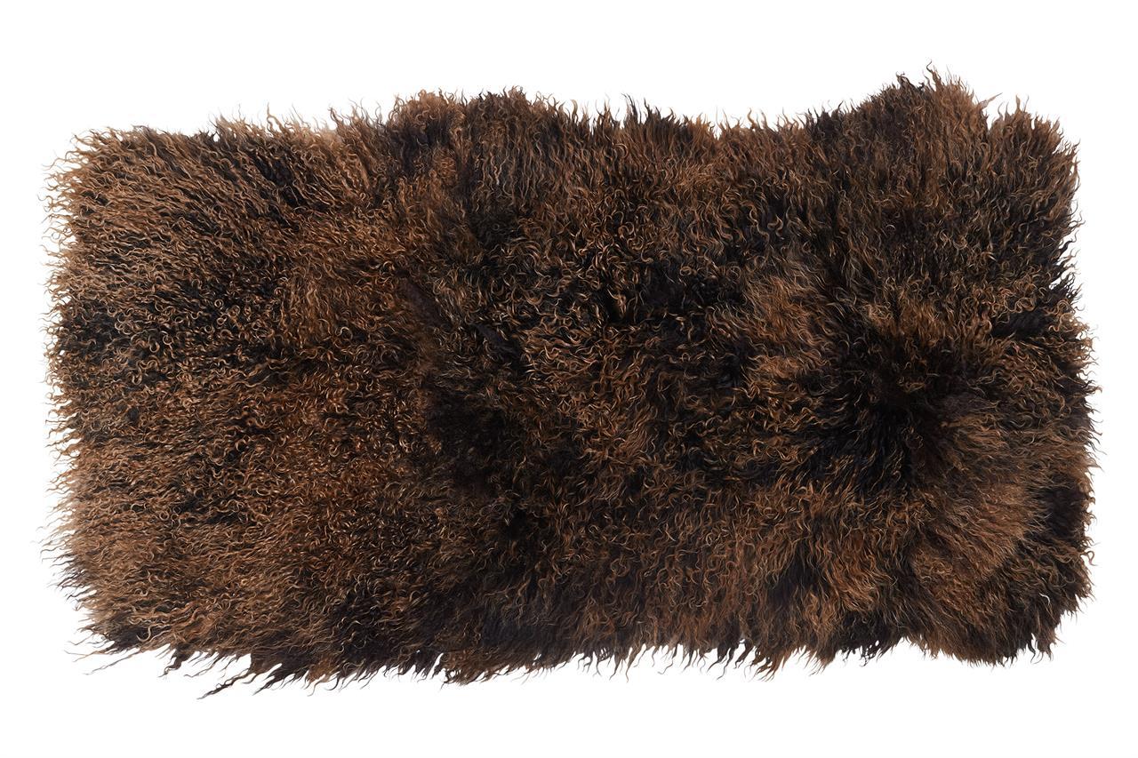 Jehněčí kožešina TIBET pás Barva: Hnědá, Velikost: 60 × 120 cm
