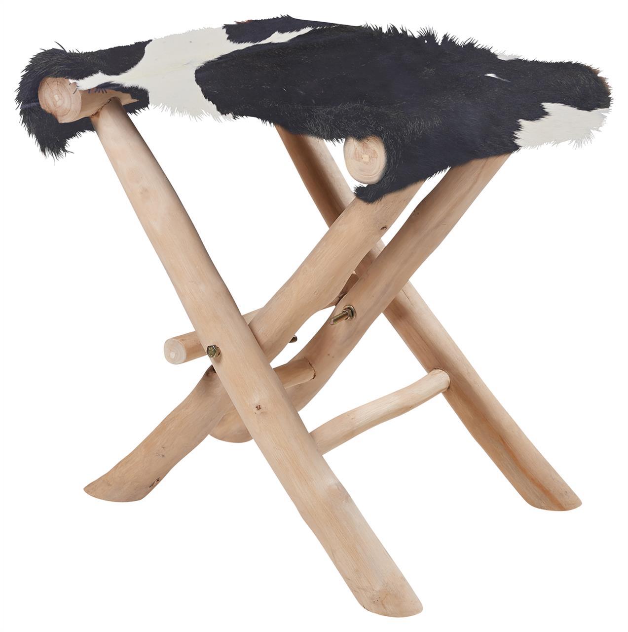 Skládací stolička s dřevěnými nožkami Zvolte variantu: černo bílá, Velikost: 35x40x45 cm