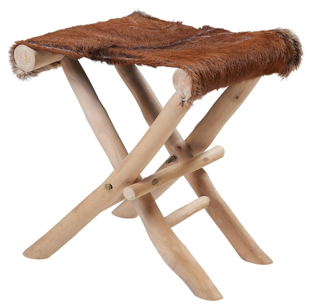 Skládací stolička s dřevěnými nožkami Zvolte variantu: Hnědá mix, Velikost: 35x40x45 cm
