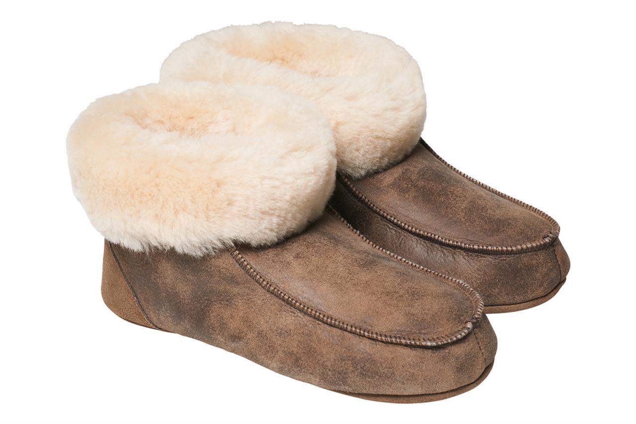 Fotografie Domácí obuv Barva: Hnědá s patinou, Velikost: 37