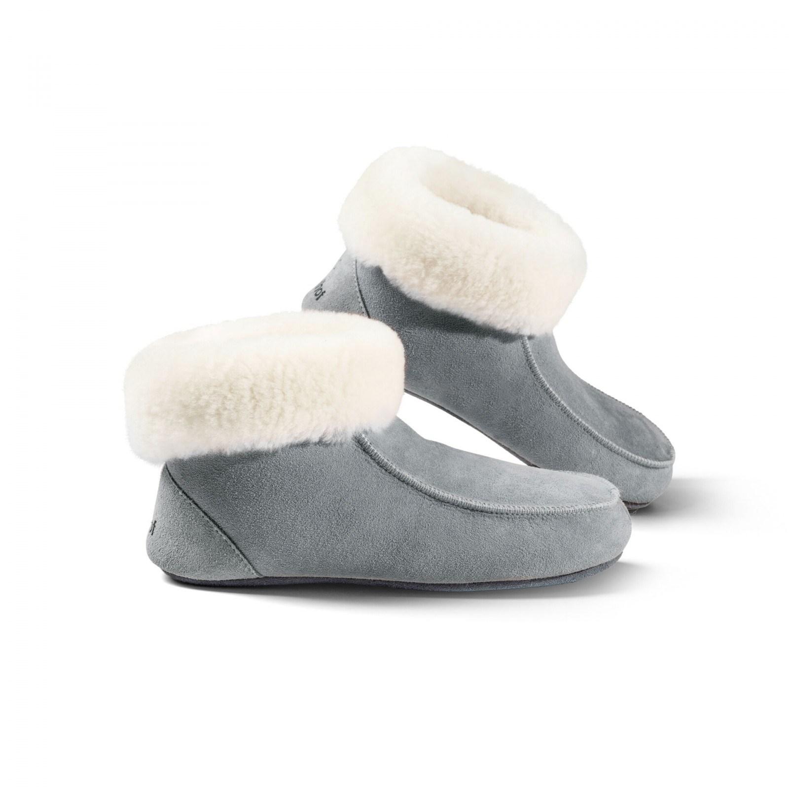 Domácí obuv s koženou podrážkou Zvolte variantu: Modrá, Velikost: 37