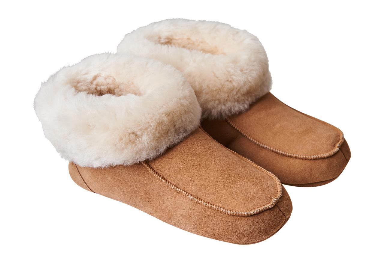 Domácí obuv s koženou podrážkou Zvolte variantu: Světle hnědá, Velikost: 36