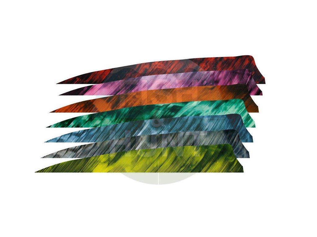 "Letka Gateway Feather 4"" Shield RW (Barva Camo Tre Yellow)"