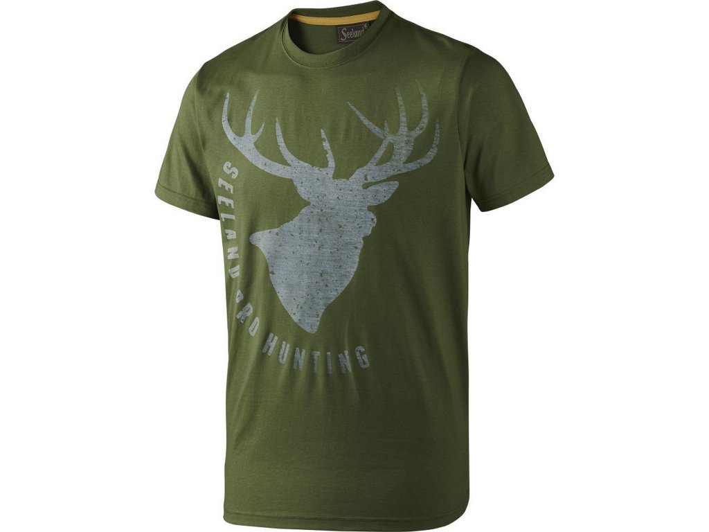 Seeland Faded Stag Tee Shirt in Green B01CI7ASYU