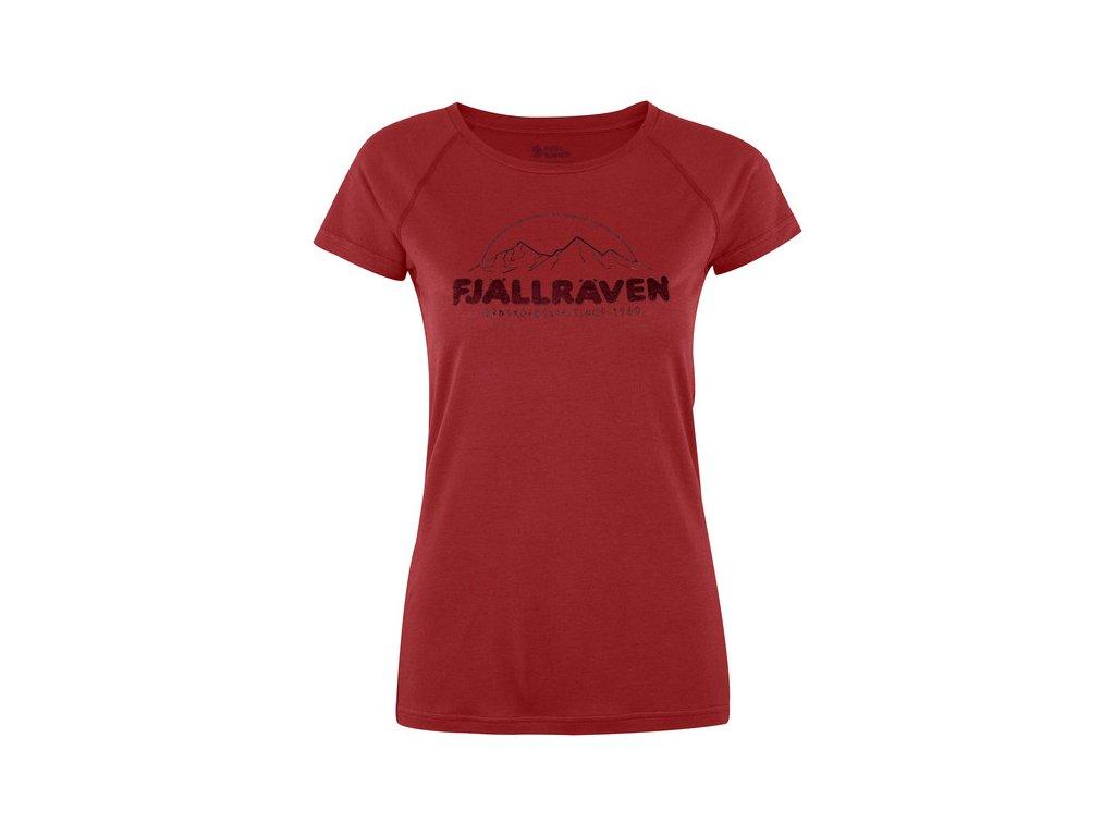 Fjallraven Abisko Trail Print W tričko (Barva 335-Lava, Velikost M)
