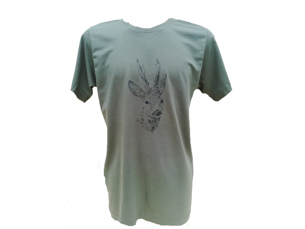 5684fa50c5d5 Popis. Bavlněné tričko s potiskem srnce