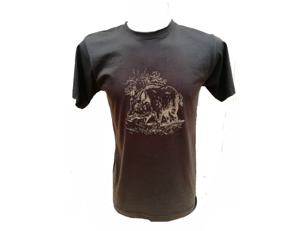 Shooterking - Divočák tričko pánské, hnědé (Velikost XL)