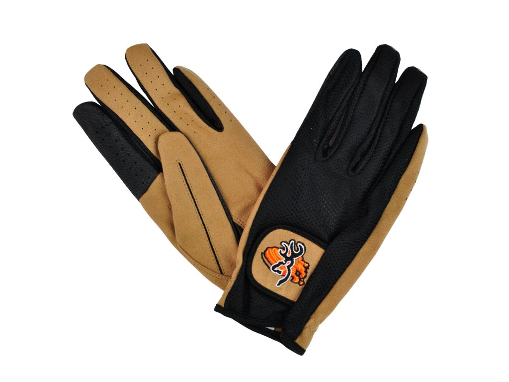 Browning Mesh back clay shooting gloves Black tan