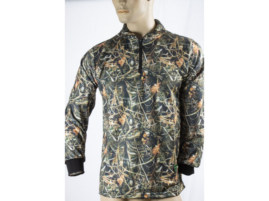 Mikina 1/4 zip - camo, unisex, ARC 4009, Archer Camp