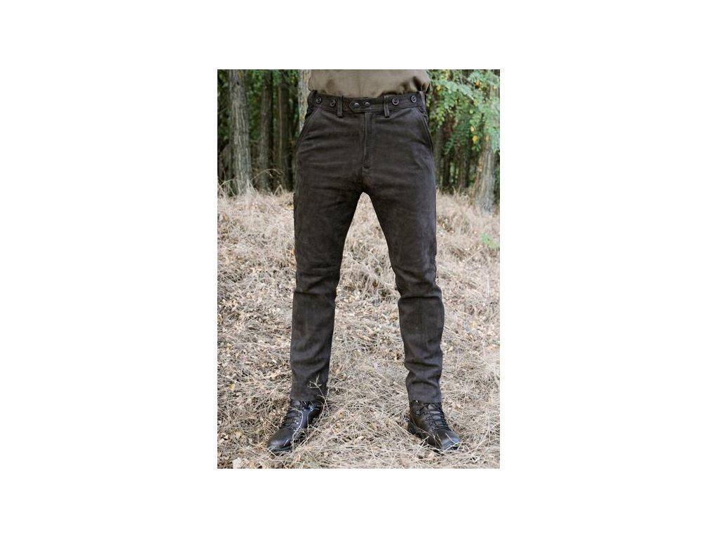 Kalhoty kožené Rabenau Braun - pánské, Carl Mayer *