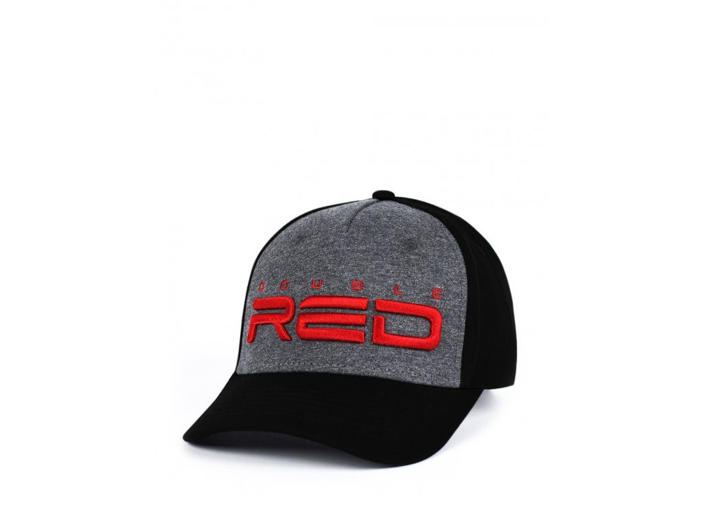jersey double red 3d embroidery cap greyblack