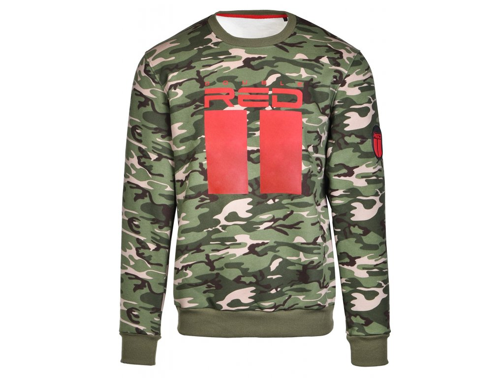 sweatshirt all logo green camo