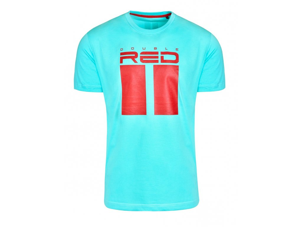 t shirt all logo turquoise