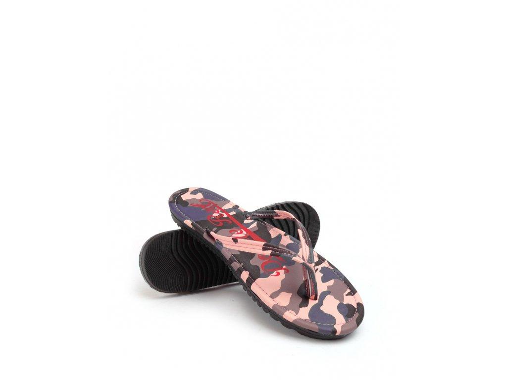 slippers camo salmon