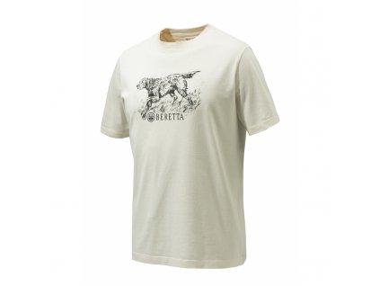 Beretta pes tričko, béžové (Velikost XL)