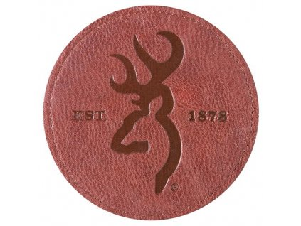 BGT4022 Coaster Buckmark Faux Leather 4pk Browning 53863.1437068760.500.750