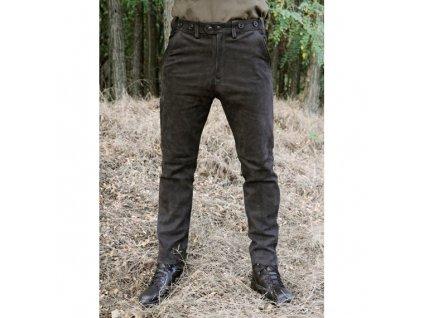 Kalhoty kožené Rabenau Braun - pánské, Carl Mayer