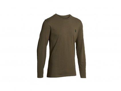 Skog - olive, tričko s dlouhým rukávem, pánské, NH