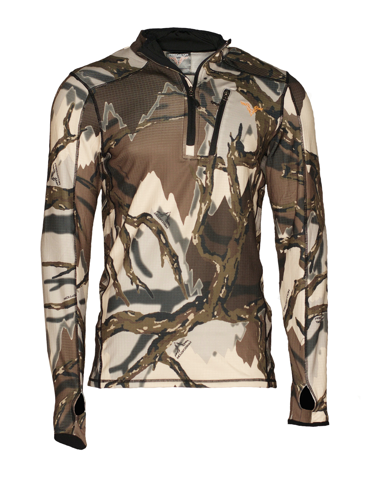Predator Camo Fleece mikina 1 4 zip Barva  brown deception 6bbbaab9f4