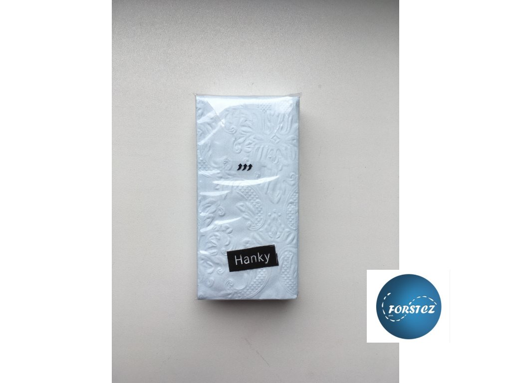 Svatební papírové kapesníčky 10 ks. - ORNAMENT BLUE